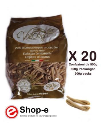 Caserecce Rigate Integrali di grano duro siciliano Vallolmo
