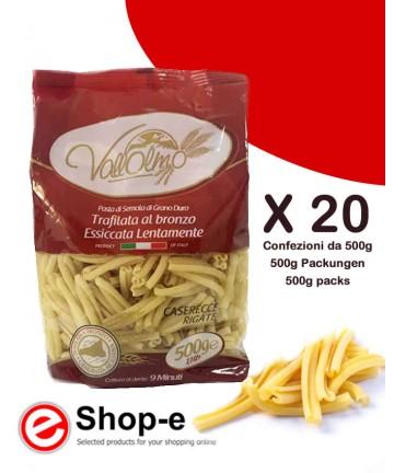 Caserecce Rigate di grano duro siciliano Vallolmo