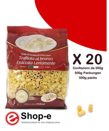 Ditalini Lisci di grano duro siciliano Vallolmo