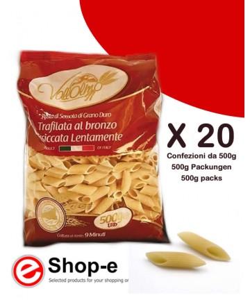 Mezze Penne Rigate di grano duro siciliano Vallolmo