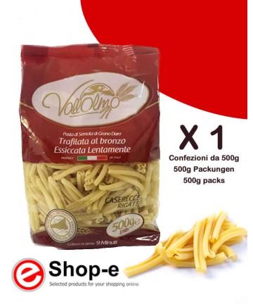 Caserecce Rigate di grano duro siciliano Vallolmo 500g