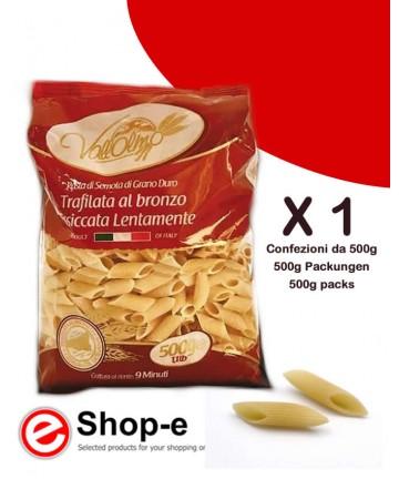 Mezze Penne Rigate made from Sicilian Vallolmo durum wheat 500g