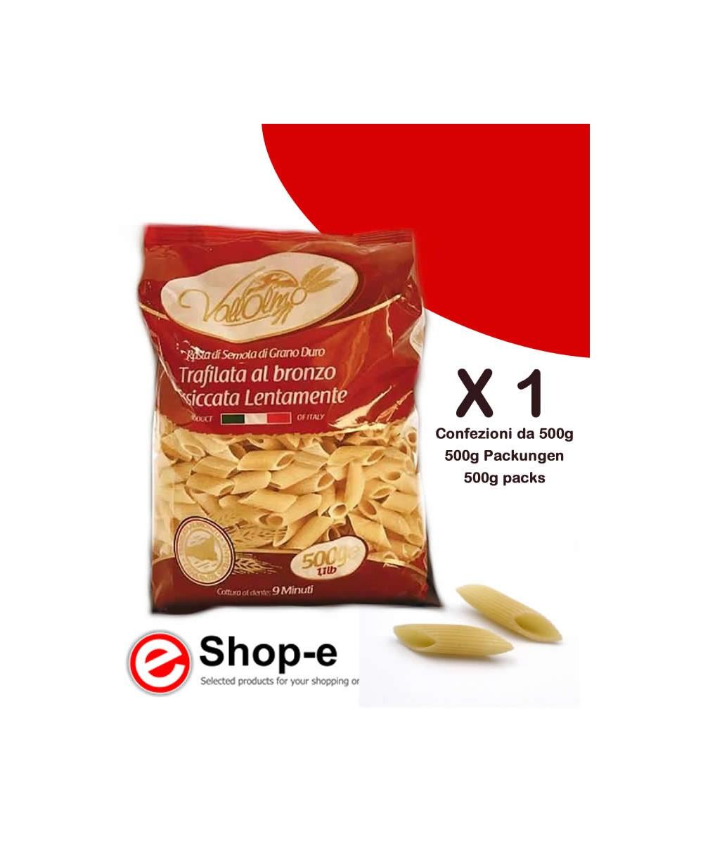 500g of Sicilian durum wheat Mezze Penne Rigate Vallolmo