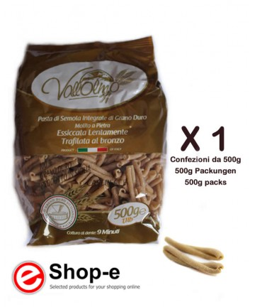 Caserecce Rigate Integrali di grano duro siciliano Vallolmo 500g