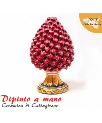 Pigna H 30 cm in Caltagirone Keramik handbemalt