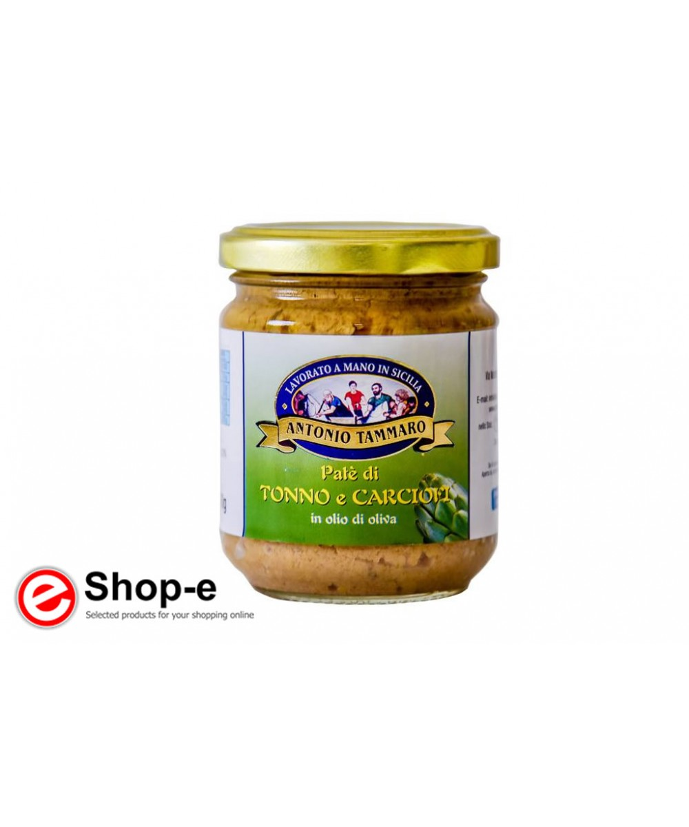 Pat� of tuna and artichokes in olive oil of 200 g