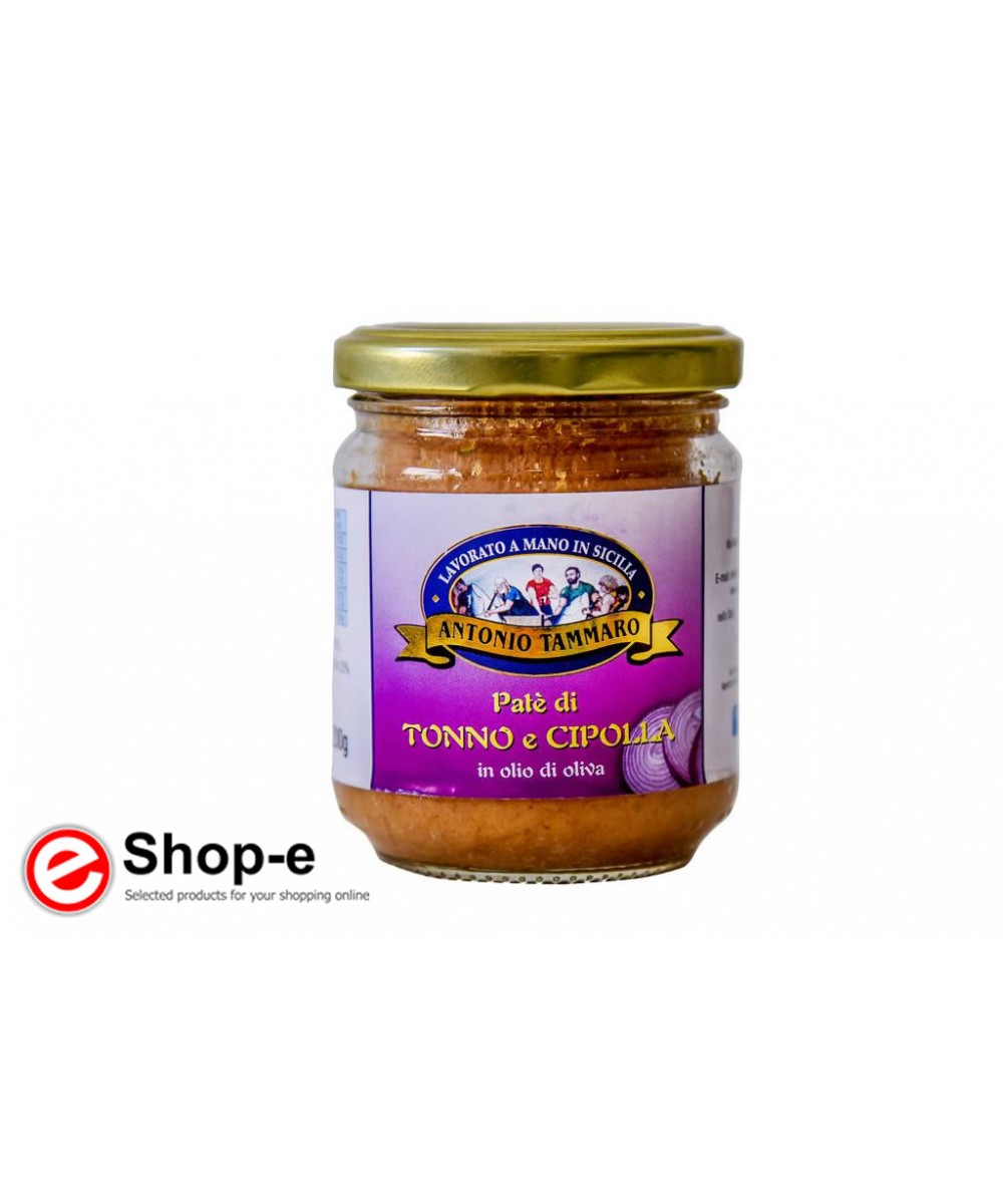 Pat� of tuna and Sicilian red onions in olive oil of 200 g