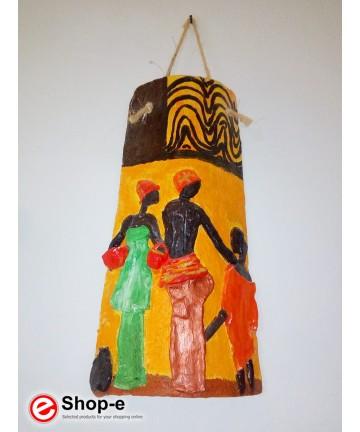 Tegola decorata a mano stile afro