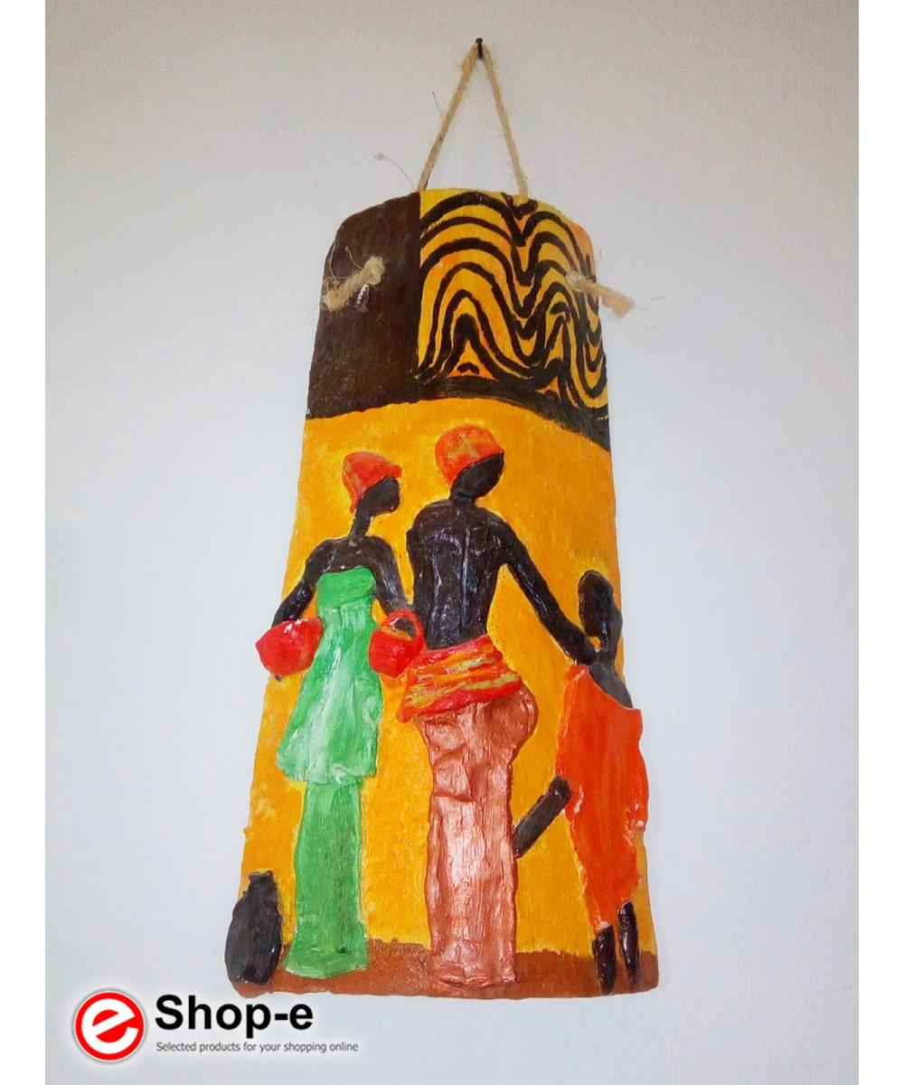 Handdekorierte Fliese im Afro-Stil