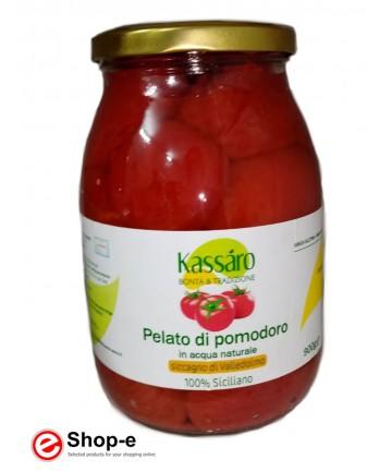 Geschälte Tomaten in natürlichem Wasser von 1 kg