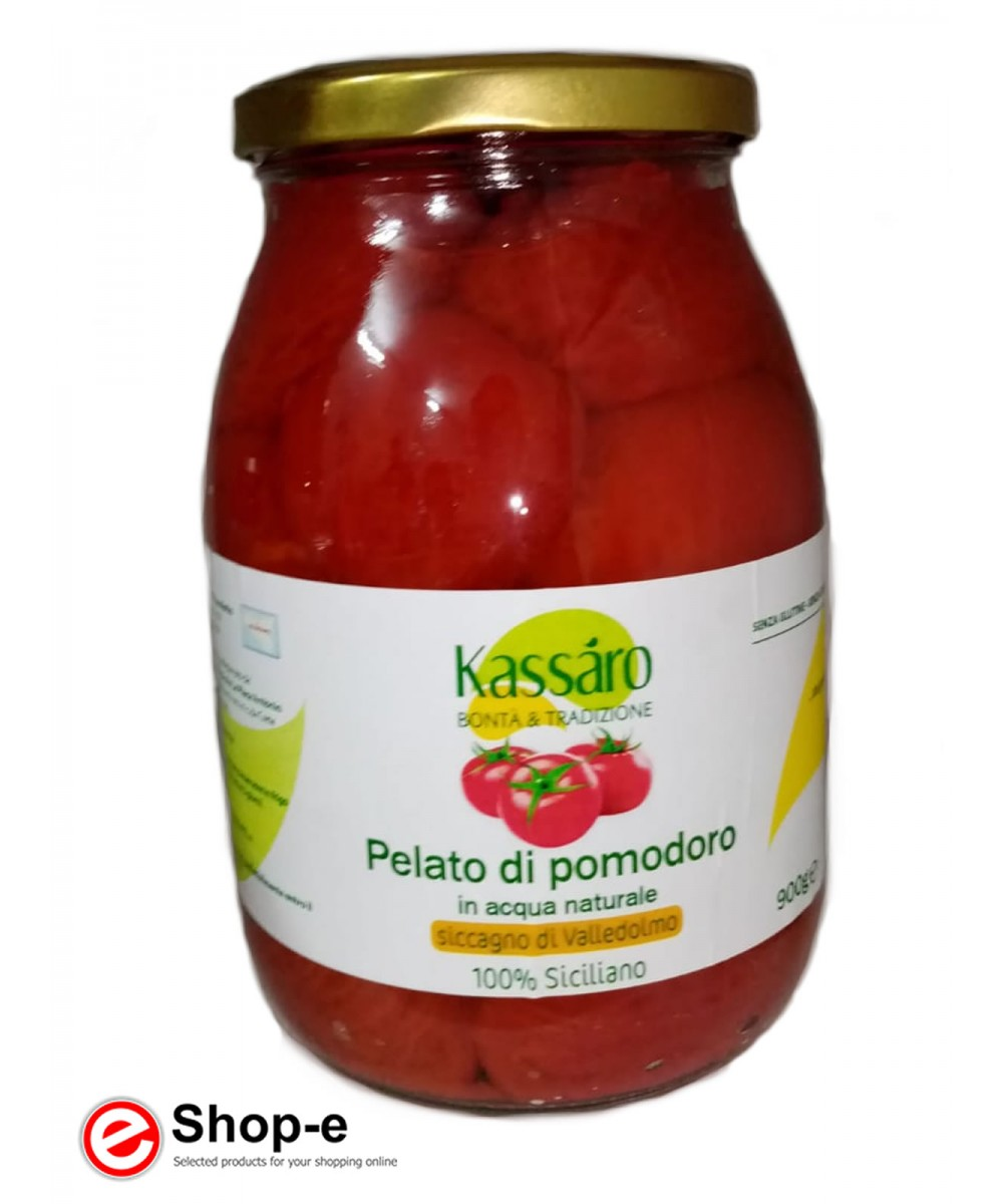 Peeled tomatoes in natural water of 900g