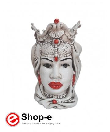 Testa di moro in ceramica di Caltagirone - Donna h 30 cm