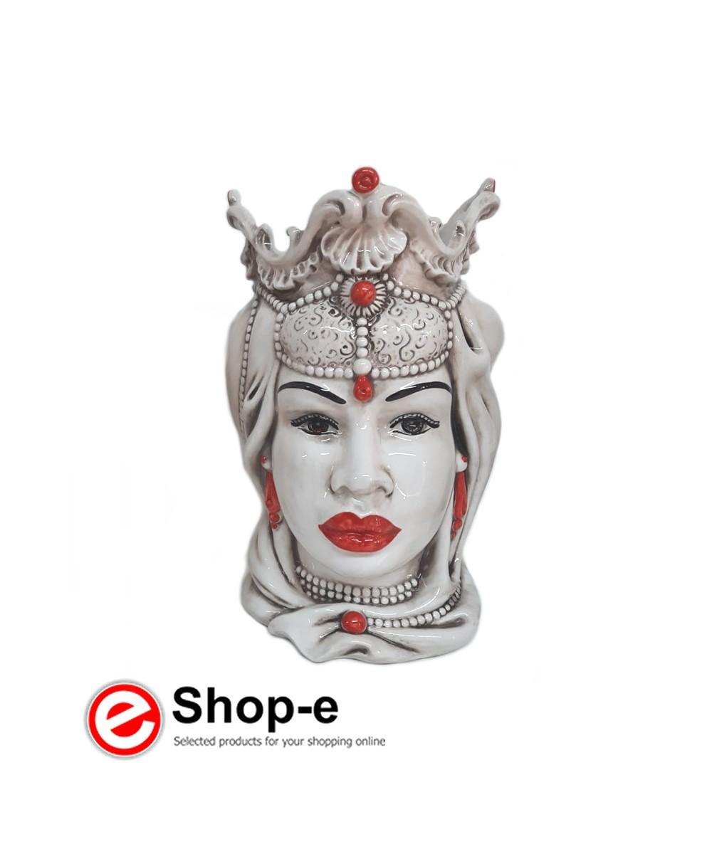 Caltagiron Keramik Moorkopf - Frau h 30 cm