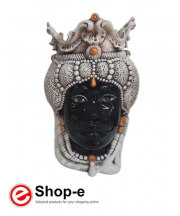 Testa di moro in ceramica di Caltagirone - Uomo h 38 cm