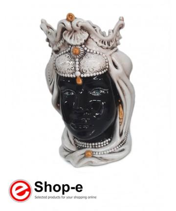 Caltagiron Keramik Moorkopf - Frau h 38 cm