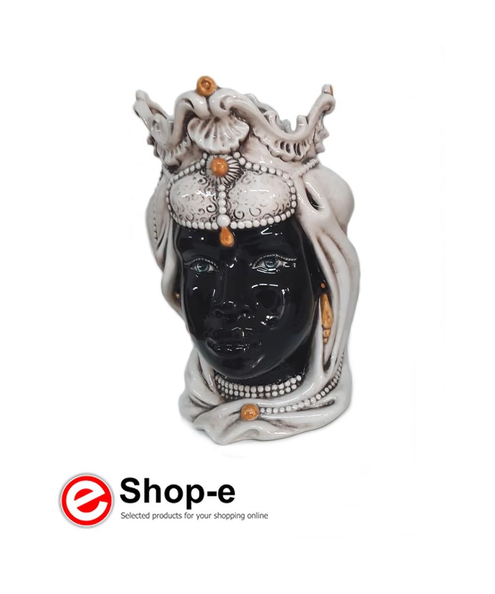 Caltagirone ceramic moor's head - Woman h 38 cm