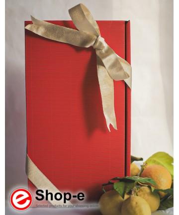 Confezione regalo in scatola con 2 bottiglie di olio biologico siciliano