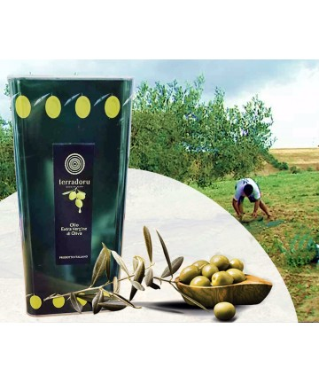 Litri 5 Extra virgin olive oil from Terradoru olives