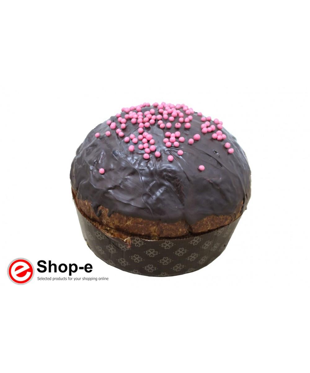 Handgemachte Panettone aus schwarzen Kirschen und Schokolade 900 Gramm