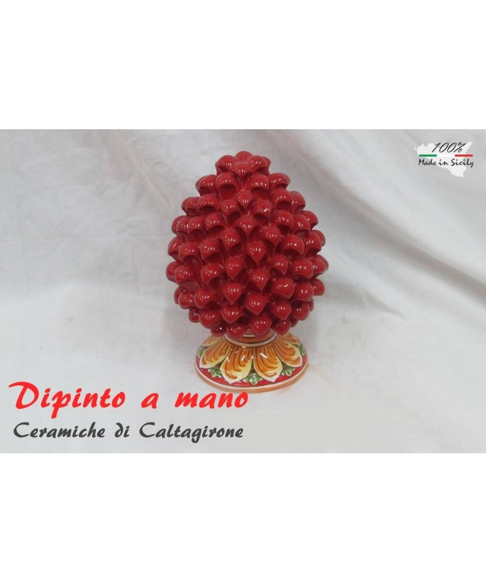 Pigna h 10 cm in Caltagirone ceramic hand painted
