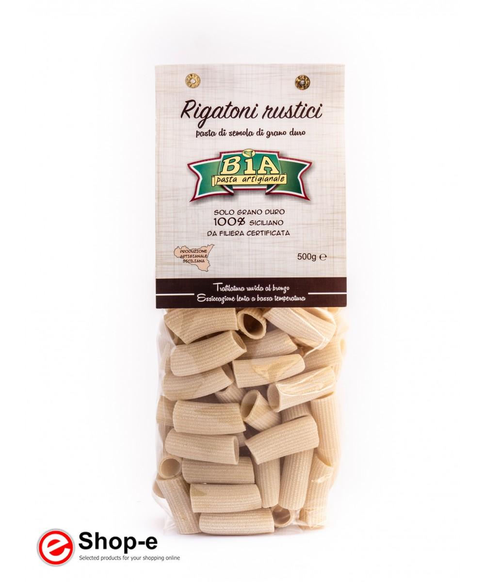 6 kg of artisanal pasta Rigatoni rustic bronze drawn