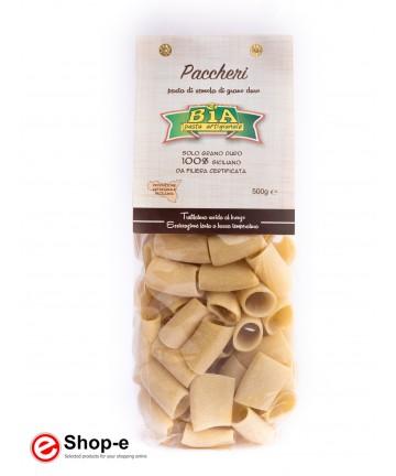 bronze drawn Paccheri artisan pasta