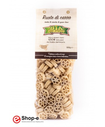 artisan pasta Ruote di Carro bronze drawn