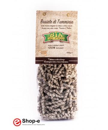 bronze-drawn Busiate di Tumminia wholemeal artisan pasta