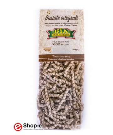 bronze drawn Busiate wholemeal artisan pasta