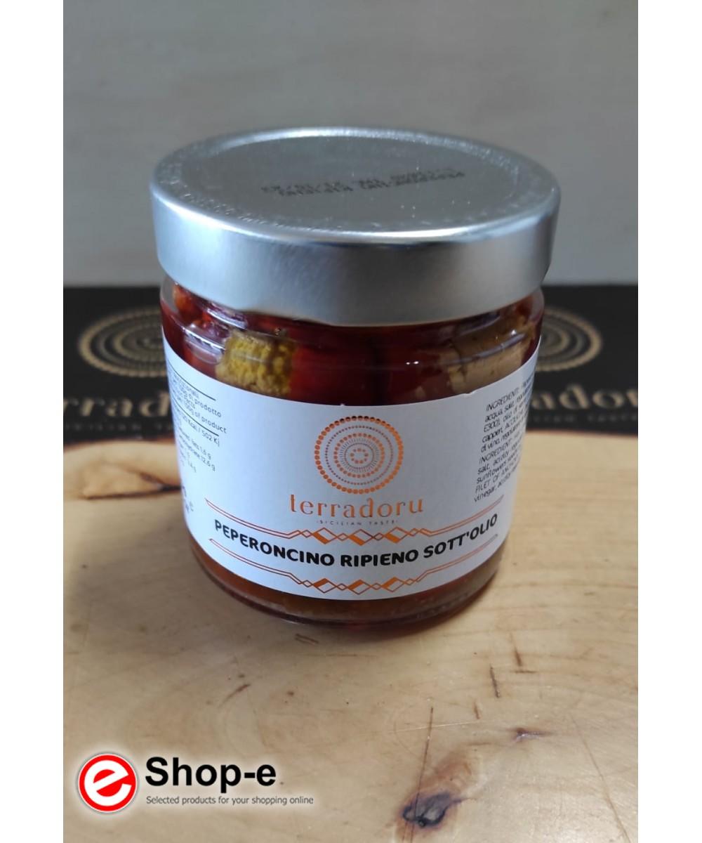 220 g gefüllte Paprika in Öl