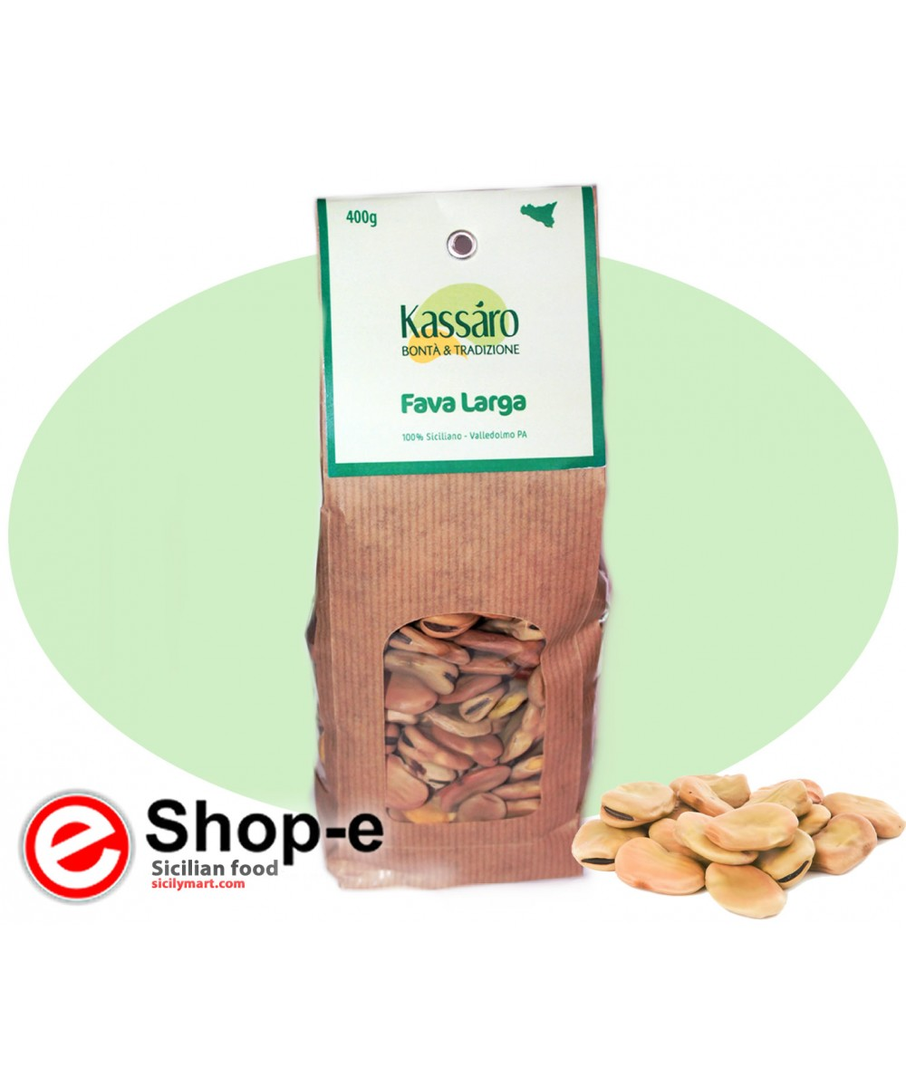 Dried broad beans with shell of 400 gr