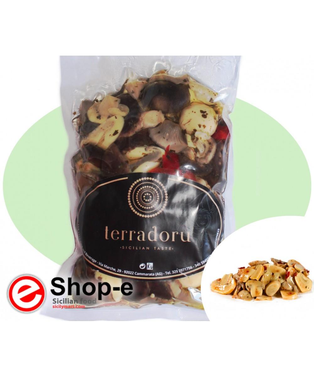 Gemischte Pilze nach Bauernart in 500 g Oliven�l