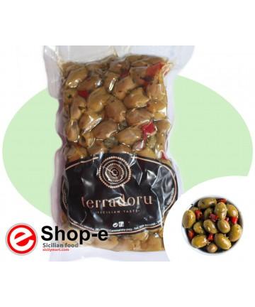 Lampedusana grüne Oliven von 500 g