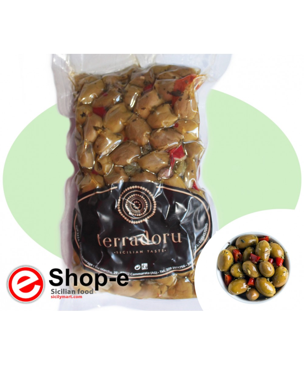Lampedusana green olives of 500 g