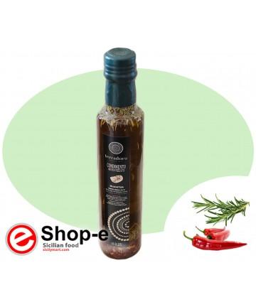 Condimento da 250 ml a base di Olio di Oliva peperoncino e rosmarino