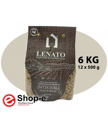 Pasta integrale di semola di grano duro siciliano, cavatelli