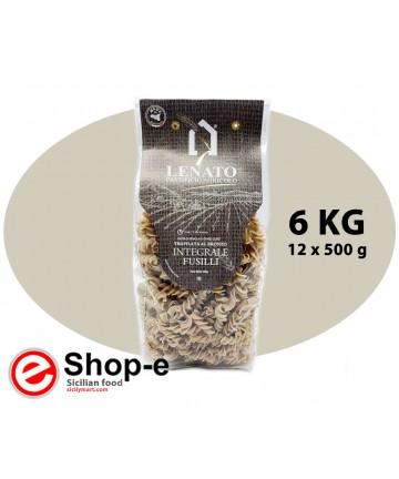 Pasta di semola di grano duro integrale siciliano, fusilli