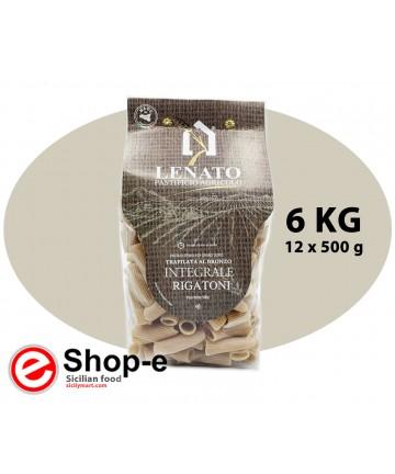 Pasta di semola di grano duro integrale siciliano, rigatoni