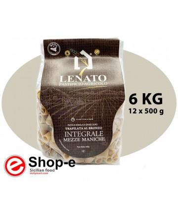 Pasta di semola di grano duro integrale siciliano, mezze maniche