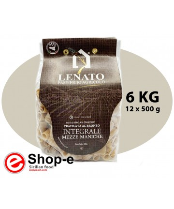 Mezze maniche of whole Sicilian durum wheat
