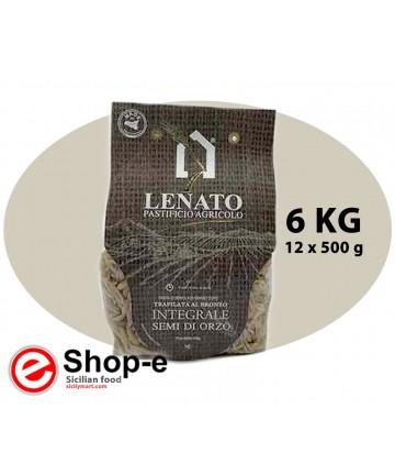 Pasta di semola di grano duro integrale siciliano, semi di orzo