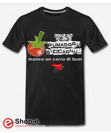 POMADORU SICCAGNU T-Shirt Schwarz Astanchiama Stil Original