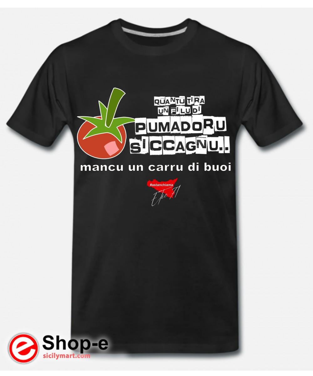 POMADORU SICCAGNU T-shirt Black Astanchiama style original