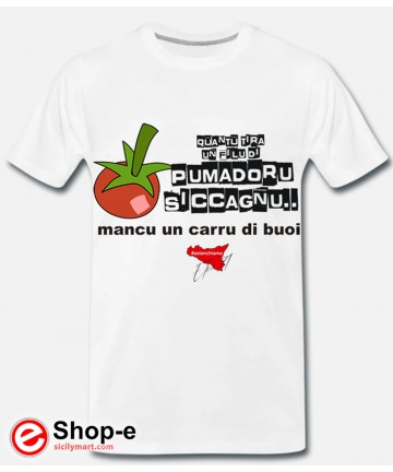 T-shirt POMADORU SICCAGNU White Astanchiama style original