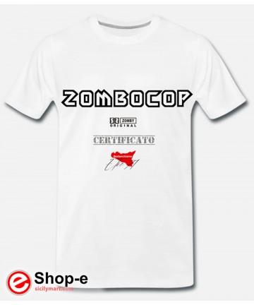 Zombocop Original T-Shirt im Weißen Astanchiama Stil
