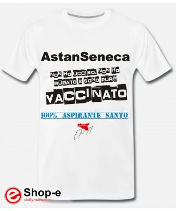 ASTANSENECA Weißes Original-T-Shirt im Astanchiama-Stil