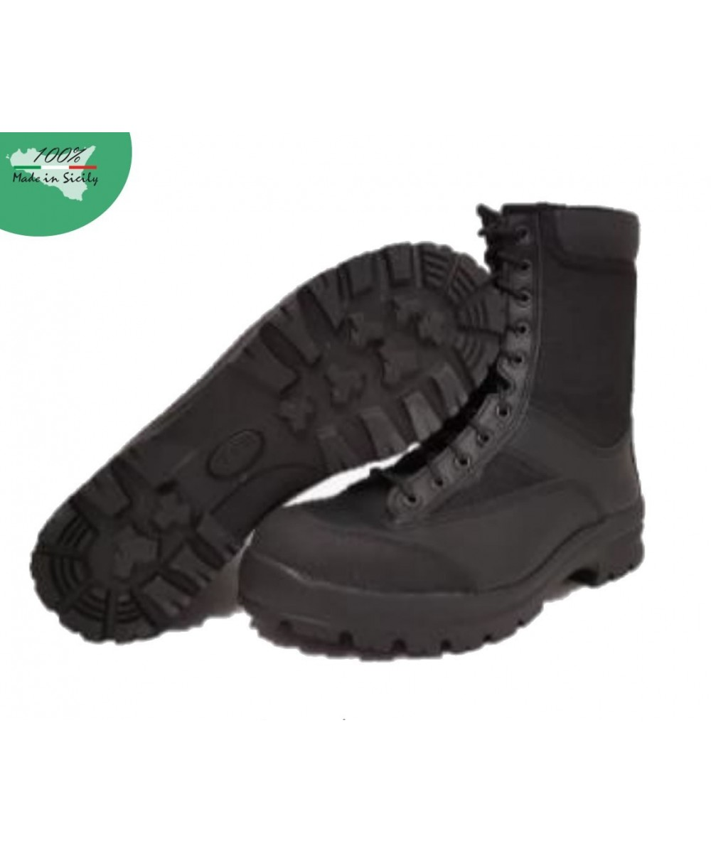 Col. Black Winter Amphibious, in leather and water repellent fabric