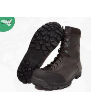 Combat boot and winter service all in leather with waterproof lining