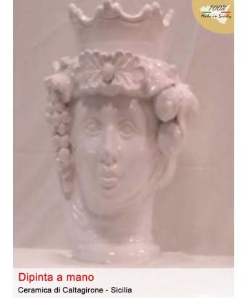 Dunkelbraun mit weißer Caltagirone-Keramikkrone