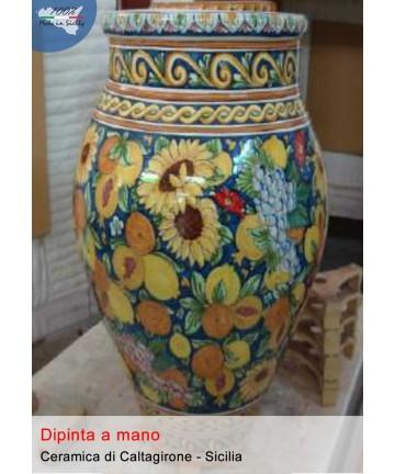 Giara in ceramica di caltagirone (h cm80)